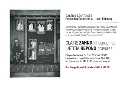 Invitation vernissage galerie Contraste